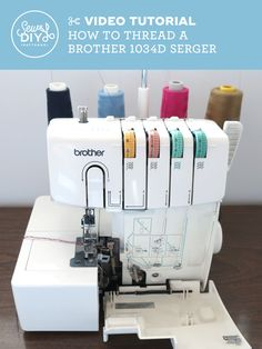 Learn to sew with beginner-friendly women's sewing patterns, videos and sewing tutorials. Serger Projects, Small Sewing Projects, Sewing Hacks, Sewing Tutorials, Sewing Tips, Sewing Basics, Video Tutorials, Serger Stitches, Serger Patterns