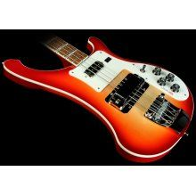"""The Bass player from """"Crosswater"""" just purchased this instrument.  Rickenbacker 4003 Fire Glo bass,"""