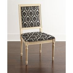 Massoud Ingram Dining Chair featuring polyvore home furniture chairs dining chairs dior ebony black dining chairs colored chairs black chair nailhead furniture colored dining chairs