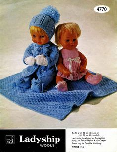 Vintage Dolls Cloths Pattern Two Outfits to fit by DaleStratford