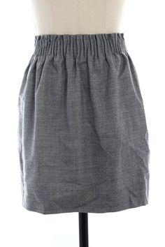 J. Crew Gray Paperbag Skirt
