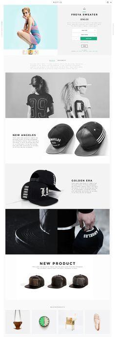 Notio by Aykut Yılmaz #web #design #layout #ecommerce