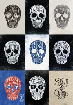 Skulls and quotes ... in French (BMD Design)