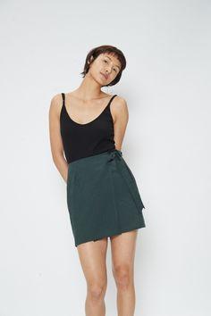 0a761797072 Gemma Wrap Mini Skirt - Forest