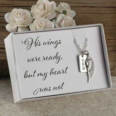 Silver Necklace With Pendant Daddy Tattoos, Tatoos, Tattoos For Dad Memorial, Remembrance Tattoos, Miss You Dad, Grieving Quotes, Order Stamps, Angel Wing Necklace, In Memory Of Dad