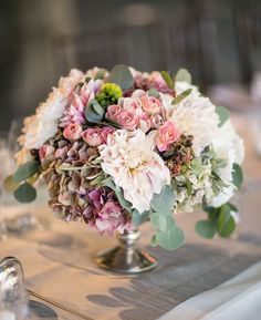 Larissa Cleveland Photography; Wedding reception centerpiece idea;