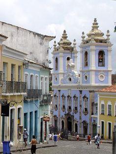 Pelorinho, Salvador, Bahia, Brasil   #ridecolorfully
