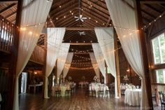 The Barns at Wesleyan Hills, CT. Sheer fabric adds elegance and romance.