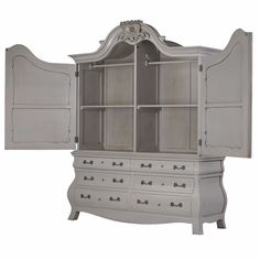 Dutch Merchant Cabinet Wardrobe with Drawers Beautifully Designed. Our Furniture & Accessories are all made to a high standard with covered warranty for peace of mind. Make your Home Inspirational. La Maison Chic Luxury Furniture Free UK* Delivery Call 0800 1337828 to speak to our sales team.