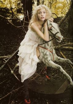 Sasha Pivovarova by Mario Testino for Vogue UK.