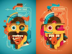 Psychedelic characters.