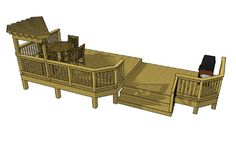 Gorgeous 2 level 284 sf deck with an 16' x 12' entertaining area with an opposing grilling area.  If you want to build a deck like this, you can download the plans for this deck for free.  Just click the image!!