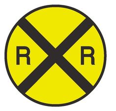 Railroad crossing sign is great decor item for any child's room decorated with a train theme, train room or garage. Every train enthusiast, hobbyist, or collector would love to have this yellow railroad crossing sign.