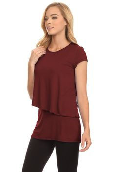 Meera Short Sleeves Nursing Top – BellyMoms Maternity - The Finest Collection of Nursing Clothes for Breastfeeding