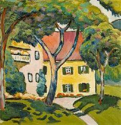 August Macke - House in a Landscape