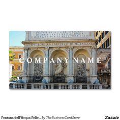 Fontana dellacqua felice scene rome italy business card italian fontana dellacqua felice rome italy business card reheart Images