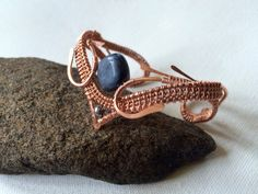 Copper Wire Wrapped Cuff Bracelet by Dreswireddesigns on Etsy