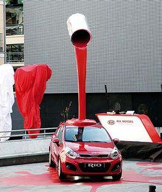 Načerveno! #kia #kiamotors #rio #car #cars #advertising #creative