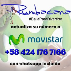 Cambiamos de número a #Movistar. 58 424 176 7166 Con #whatsapp incluido Actualicen nuestro contacto en sus celulares