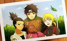 Find images and videos about naruto, shikadai and inojin on We Heart It - the app to get lost in what you love. Sasuke, Naruto Shippuden, Naruto Gaiden, Boruto And Sarada, Anime Naruto, Anime Ninja, Asuma Y Kurenai, Yamanaka Inojin, Shikadai