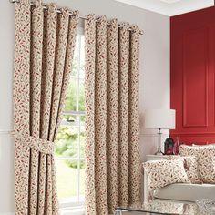 Heritage Terracotta Glava Lined Eyelet Curtains | Dunelm