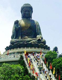 Big Buddha on Lantau island, Hong Kong