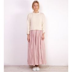 Cream Cropped Danby Sweater - Cabbages and Roses