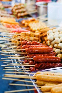 Street Food at the Khaosan Road market in Bangkok