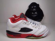 91c761222b5 Kids Air Jordan 5 V Retro Low Fire Red Basketball Shoes size 5 Youth  Nike