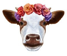 Cow with flower crown