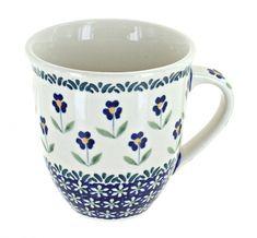 Blue Daisy Breakfast Mug