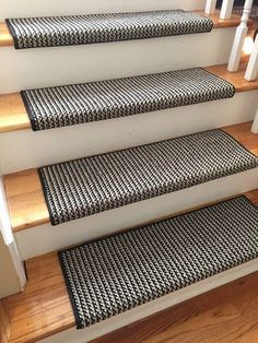 Black Jack 100 New Zealand Wool! - TRUE Bullnose™ Carpet Stair Tread Runner Replacement for Style, Comfort and Safety (Sold Each) Hallway Carpet Runners, Cheap Carpet Runners, Carpet Runner On Stairs, Staircase Runner, Runners For Stairs, Staircase Ideas, Wall Carpet, Carpet Stairs, Basement Carpet