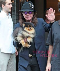 Ozzy Osbourne and his cutie pomeranian were headed to a concert in NYC!