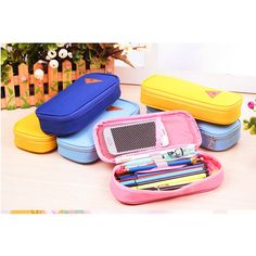 Use: Stationery Case / Cosmetic Bag Size: 9 x 19.5 x 4.5 cm Category: Stationery Case Material: Vinyl, PU