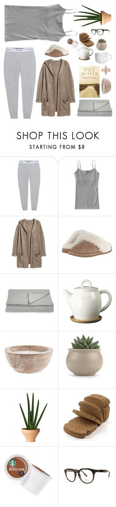 """""""Sunday feeling"""" by solespejismo ❤ liked on Polyvore featuring Calvin Klein Jeans, Aéropostale, H&M, Old Friend, Auster, Calvin Klein, Höganäs Ceramic, Internoitaliano, Home Decorators Collection and Keurig"""