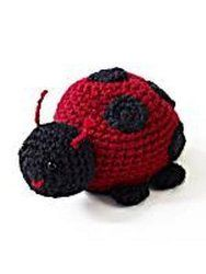 Scarlet and black Vanna's Choice yarn is what you need to make this adorable little ladybug. You can crochet it and add it to your amigurumi collection. It's such an easy pattern.