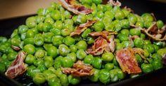 Cuisine-à-Vous: Doperwten met panchetta en tijmsaus