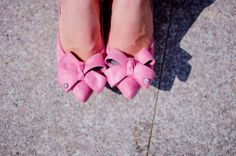 pink shoes, stiletto, bow shoes, heels, details, fashion, style