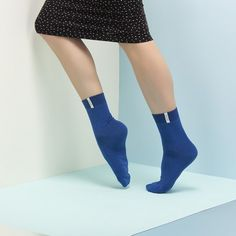 Adam a Eva ultramarín High Socks, Fashion, Moda, Thigh High Socks, Fashion Styles, Stockings, Fashion Illustrations