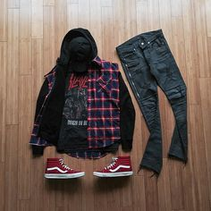 Image result for red vans outfits