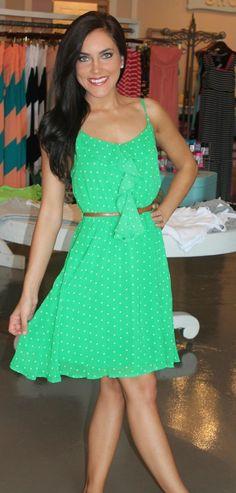 Dottie Couture Boutique - Chiffon Green Dress, $44.00 (http://www.dottiecouture.com/chiffon-green-dress/)