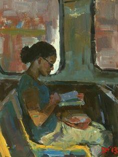 """Saatchi Online Artist Darren Thompson; Painting, """"Reader #64"""" #art"""