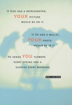 Max Lucado... You are a Child of God