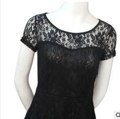 Women Elegant Sweet Hallow Out Lace Dress Party Princess Slim Summer Dress $15.32