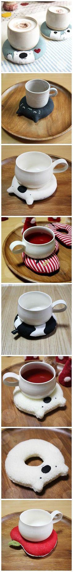 手工DIY 杯垫。