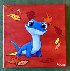 hippie painting ideas 668854982147624811 - Disney Frozen Bruni Fire Lizard canvas Acrylic painting Source by Disney Canvas Paintings, Disney Canvas Art, Cute Paintings, Acrylic Painting Canvas, Easy Acrylic Paintings, Simple Paintings On Canvas, Disney Art Diy, Acrylic Painting Inspiration, Acrylic Board