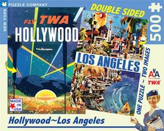 Hollywood-LA – New York Puzzle Company. Double sided puzzle.