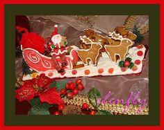 SANTA 'S SLEIGH gingerbread cookie