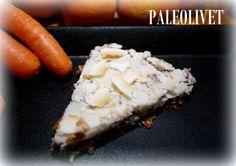 Gulerodskage med kokoscitron-topping. Uden mælk, sukker og mel som altid.