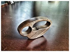 Walnut Knuckle Duster Ring by SKSJewelryCo on Etsy